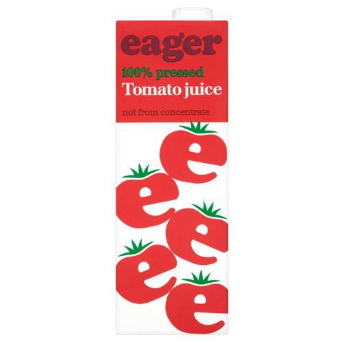 eager Tomato Juice 100% Pressed 1 Litre (Not from Concentrate)