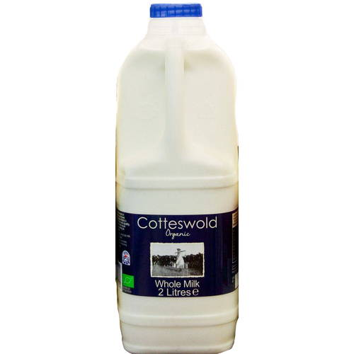 Organic Whole Milk 2 Litre Poly